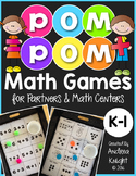 Pom Pom Math Games for Partners & Math Centers (K-1)