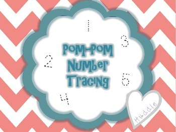 Kindergarten Number Idetification Math Center - Pom-Pom Nu