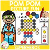 Pom Pom Picture Fun - Superheros