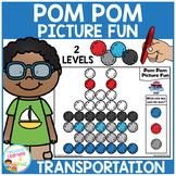 Pom Pom Picture Fun - Transportation