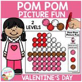 Pom Pom Picture Fun - Valentine's Day