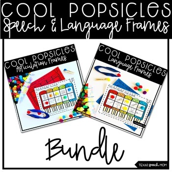 Pom Pom Popsicle Bundle: NO PREP Speech & Language Therapy