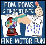 Pom Pom and Fingerprints Fine Motor Fun Mats
