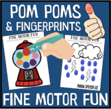 Pom Pom and Fingerprints Fine Motor Fun Mats