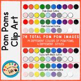 Pom Poms Clip Art