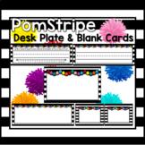 Pom Stripe Desk Plate / Name Cards