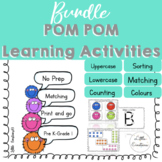Bundle Pom pom learning mats | Counting | Sorting | Alphabet Mats | Matching