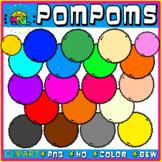 Pom-poms Clipart Set
