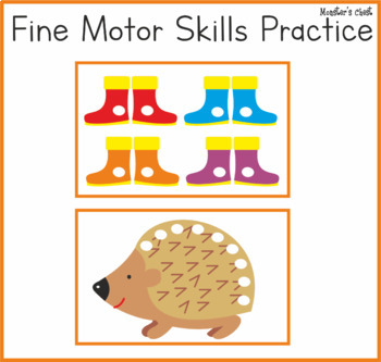 Pom poms mats.  Fine motor skills fun. Autumn edition