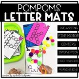 Alphabet Activities | PomPom Letter Mats task cards | Fine Motor