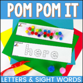PomPom It Alphabet and Sight Word Fine Motor Skills Activities