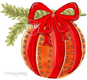 Pomander Holiday Orange and Clove with and without greenery Tracey Gurley