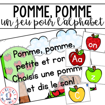 Pomme, pomme, petite et ronde! Game and literacy centre