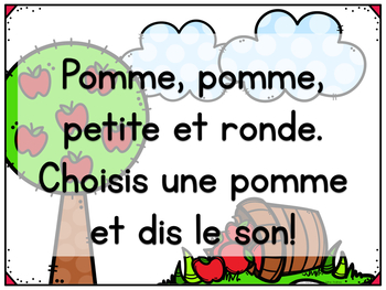 FRENCH Fall Beginning Sounds Game - jeu d'automne pour le son initial