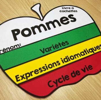 Pommes - Livre à cachettes  - French Flip Book