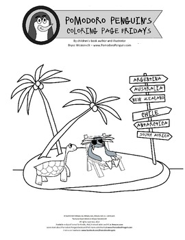Pomodoro Penguin Coloring Page Friday 3: Penguin Fun