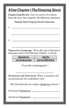Pompeii... Buried Alive! (Edith Kunhardt) Book Study / Comprehension