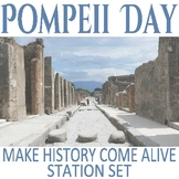 Pompeii Day- Station Activities for exploring the city of Pompeii