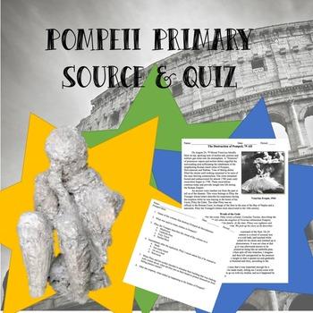 Pompeii Primary Sources & Quiz
