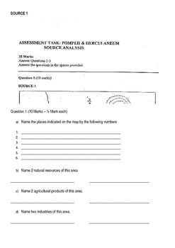 Pompeii and Herculaneum Assessment