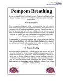 Pompom Breathing Exercise for Children