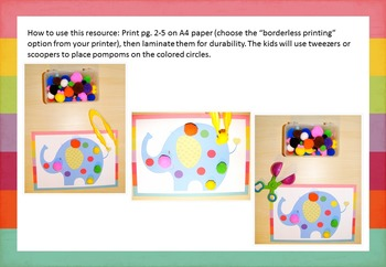 Pompom Mats for Color Recognition Activities
