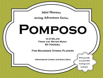 """""""Pomposo"""" from the Water Music by Handel"""