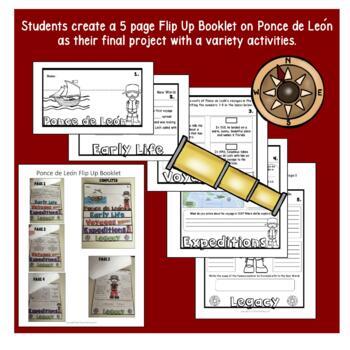 Early Explorers - Ponce de Leon Unit with Articles, Activities, & Flip Book