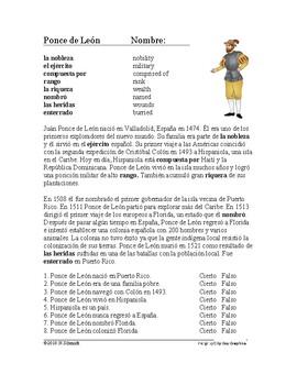 Ponce de León Biografía: Spanish Biography of Ponce de Leon