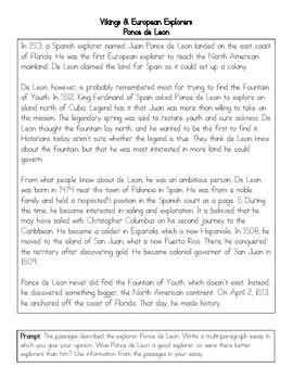 Ponce de Leon Prompt and Passage