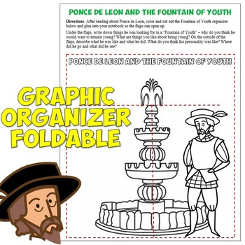 Ponce de Leon and the Fountain of Youth Reading, Worksheet, and Activity