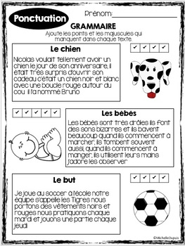 Ponctuation - GRAMMAIRE - French grammar unit