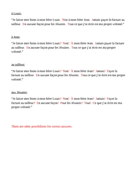 Ponctuation française (French punctuation) worksheet