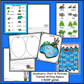Pond Packet! Literacy & Math Activities