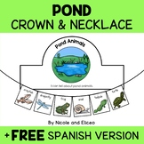 Pond Animal Activity Crown and Necklace
