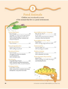 Pond Animals: Outdoor Activity and Dramatic Play