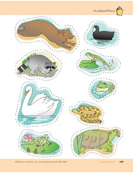 Pond Animals: Storyboard Pieces