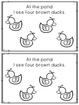 Pond Animals Student Mini Books