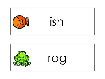 Pond Beginning Sound Word Cards