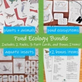 Pond Ecology Bundle: indoor and outdoor science activities