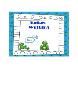 Pond Exploring: Rebus Writing