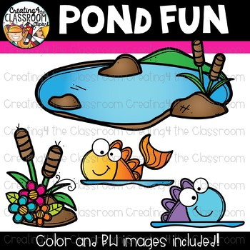 Pond Fun Clipart {Spring Clipart}
