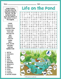 Pond Habitat Word Search and Label