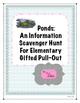 Pond Informational Text Scavenger Hunt