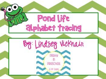 Pond Life Alphabet Tracing