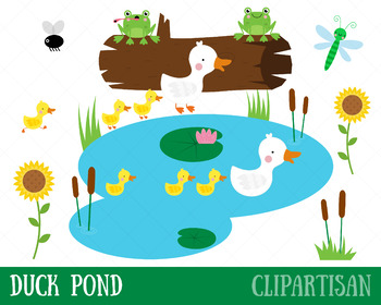 duck pond clip art by clipartisan teachers pay teachers rh teacherspayteachers com pond clip art black and white duck pond clip art