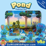 Pond Life Diorama Project |  Fresh Water Animal Habitat Craft | Ponds and Lakes