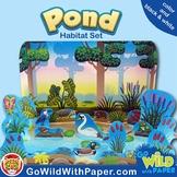 Pond Life Diorama Project    Fresh Water Animal Habitat Cr