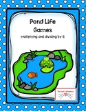 Pond Life Multiplication and Division by 5 Games