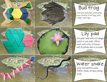 Pond Life Pattern Block Cards STEAM